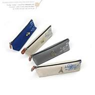 firkantet japansk og koreansk stil retro lerret slekter penn bag