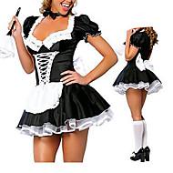 preiswerte Sexy Kostüme-Dienstmädchenuniform Karriere Kostüme Cosplay Kostüme Party Kostüme Damen Halloween Karneval Fest / Feiertage Halloween Kostüme