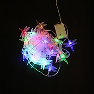 40-LED 5Mマルチカラートンボの色は、クリスマスパーティーの結婚式のためのストリングの妖精ライトを変更する