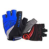 Nuckily Akvitita a sport Cyklistické rukavice Reflexní Nositelný Prodyšné Odolný proti opotřebení Ochranný Odolné vůči šokům Bez prstů