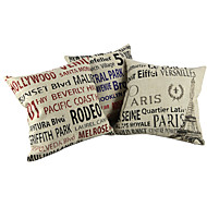 cheap Throw Pillows-Cotton / Linen Pillow Cover / Pillow With Insert , Quotes & SayingsCasual / Traditional/Classic / Outdoor / Antique / Retro /