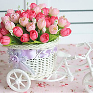 """billige -9,2 """"h rose bud i sykkel design kurv kunstige blomster hjemme dekorasjon"""