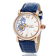 Dámské Módní hodinky Náramkové hodinky Automatické natahování Kůže Kapela Květiny Růžová Fialová Námořnická modřFialová Růžová Námořnická