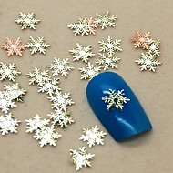 Slice metalen nail art decoratie 200pcs sneeuwvlok vorm