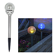 Solar Color Schimbarea YouTube Glass ball Light Miza (Cis-41285A)