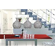 tanie -3 światła Globus Lampy widzące Downlight Szczotkowany Metal Szkło LED Zawiera żarówkę / E26 / E27
