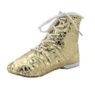 billige Jazz-sko-Dame Barne Jazz Lakklær Støvler Splitt såle Sølv Gull