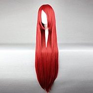Cosplay Wigs Fairy Tail Elza Scarlet Crvena Long Anime Cosplay Wigs 100 CM Otporna na toplinu vlakna Female