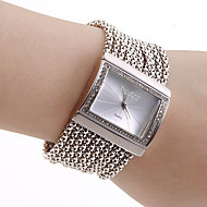 בגדי ריקוד נשים שעון צמיד שעוני אופנה Japanese קווארץ נחושת להקה פאר מדבקות עם נצנצים אלגנטי כסף