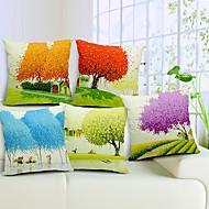cheap Cushion Sets-5 pcs Cotton/Linen Pillow Cover,Nature Country