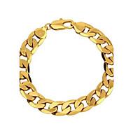 Herre Figaro kæde Kæde & Lænkearmbånd - Guldbelagt Klassisk Armbånd Gylden Til Fest / Afslappet