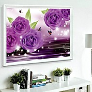 DIY Wall Hangings Wall Decor, Fantacy Purple Romantic 3D Resin Diamond Canvas Painting Art  Wall Decor