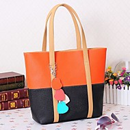 Women Bags PU Tote for Casual All Seasons Black Fuchsia Blue Pink
