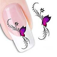 Water Transfer  Printing  Nail Stickers XF1438