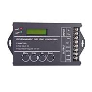 billige Lysbrytere-20a 5-kanals diy programmerbar ledet tid kontroller med USB-kabel for RGB LED strip lampe (DC 12-24V)