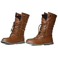 olcso -Női Cipő Bőrutánzat Ősz / Tél Lapos 20.32-25.4 cm / Magas szárú csizmák Fűző Fekete / Sárga / Zöld