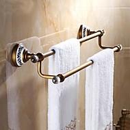 olcso Fürdőszobai eszközök-Törülközősín Jó minőség Antik Sárgaréz Kristály Kerámia 1 db - Hotel fürdő 2 torony sáv