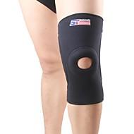 Knestøtte Sportstøtte Beskyttende Pustende Letter smerte Trening Løp Svart Fade