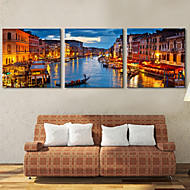 キャンバス地プリント キャンバスセット 風景 近代の,3枚 キャンバス 横式 プリント 壁の装飾 For ホームデコレーション