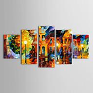 billiga Topp Konstnär-HANDMÅLAD Landskap vilken form som helst Duk Hang målad oljemålning Hem-dekoration Fem paneler