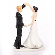 Kagedekorationer Klassisk Tema Klassisk Par Harpiks Bryllup med Gaveæske