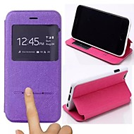 billiga Mobil cases & Skärmskydd-För iPhone 6-fodral / iPhone 6 Plus-fodral med stativ / med fönster / Lucka fodral Heltäckande fodral Enfärgat Hårt PU-läderiPhone 6s