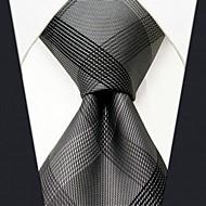 Per uomo Basic, Da ufficio / Essenziale Cravatta Monocolore / A quadri