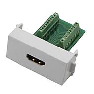 n86-600k ženska HDMI v1.4 adapter za besplatno zavarivanje modul utičnica panel podrška 3d - bijeli + zeleni
