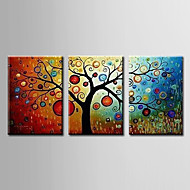 Hand-Painted Floral/Botanical Horizontal Panoramic,Modern Three Panels Oil Painting For Home Decoration