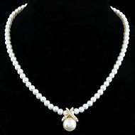 Žene Biseri Plastika Imitacija bisera Ogrlice s privjeskom Igazgyöngy nyaklánc  -  Vjenčan Elegantno Jewelry Pink Zlatan Ogrlice Za