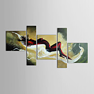 Hand-Painted People Five Panels Canvas Oil Painting For Home Decoration