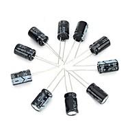 diy 35v / 470uf capacitor eletrolítico de alumínio - preto (10pcs)