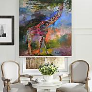 billige Rullegardiner-abstrakt oljemaleri stil giraff roller skygge