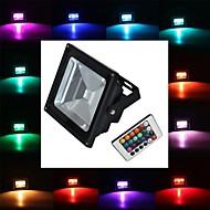 tanie Naświetlacze-900 lm Reflektory LED 1 Koraliki LED LED wysokiej mocy Zdalnie sterowana RGB 85-265 V