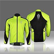 WEST BIKING® Muškarci Biciklistička jakna Svijetlo zelena Kolaž Bicikl Zima Flis jakne / Majice Ugrijati, Podstava od flisa, Prozračnost
