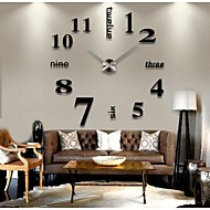cheap Wall Clocks-Modern / Contemporary Stainless Steel Round Indoor,AA Wall Clock