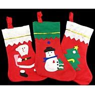 juletræ indretning strømper slik sokker taske 35 * 25cm tilfældigt mønster