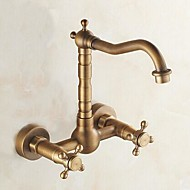 cheap Kitchen Faucets-Kitchen faucet - Traditional Antique Brass Bar/­Prep Wall Mounted
