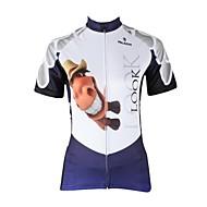 ILPALADINO Mulheres Manga Curta Camisa para Ciclismo Desenho Animado / Animal Moto Camisa / Roupas Para Esporte, Secagem Rápida,