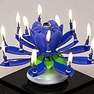 プラスチックスピニング音楽の誕生日の花のキャンドル