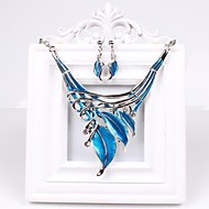 moda feminina europa strass deixa conjunto de jóias (incluindo colares brincos)