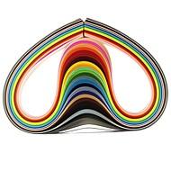 120pcs 3mmx53cm quilling χαρτί (τεμ x5 24 χρώμα / χρώμα) diy σκάφος τέχνη διακόσμησης