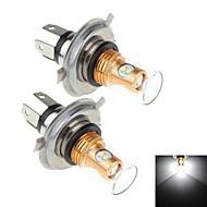 2stk h4 8w 8x samsung 2323 SMD 900lm 6000K hvidt lys førte til bil bremse / signal styring / tåge lampe (DC10 ~ 30V)