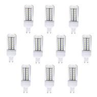 billige Kornpærer med LED-brelong 10 stk g9 56led smd5730 dekorative maislys ac220v hvit / varm hvit
