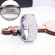 személyre szabott ajándékot gyűrű rozsdamentes acélból készült vésett ékszerek