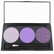 billiga Ögonskuggor-3 färger Ögonskuggor / Puder Öga Vardagsmakeup Smink Kosmetisk / Matt / Skimmrig