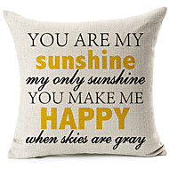cheap Pillow Covers-1 pcs Cotton/Linen Pillow Cover, Text Modern/Contemporary