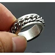személyre szabott ajándékot férfi gyűrű rozsdamentes acél vésett ékszerek