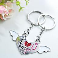 gravură personalizate dragoste înger de metal cuplu breloc