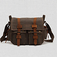 tanie Torby na ramię-Dla obu płci Torby Inny rodzaj skóry / Brezentowy Torba satchel na Casual Brown / Green / Khaki